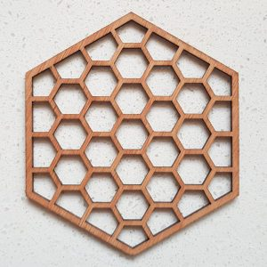 The Laser Shack - Coasters Hexa Honey