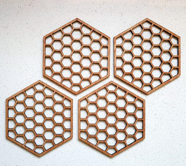 The Laser Shack - Coasters Hexa Honey