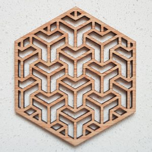 The Laser Shack - Coasters Hexa T