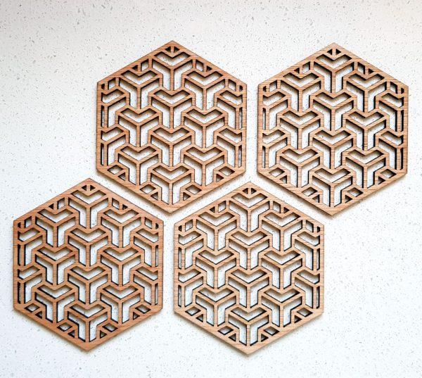 The Laser Shack - Coasters Hexa T
