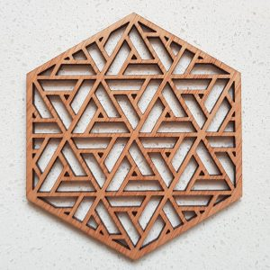 The Laser Shack - Coasters Hexa Triangle