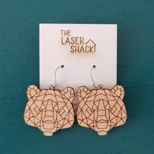 The Laser Shack Earrings GeoZoo Bear