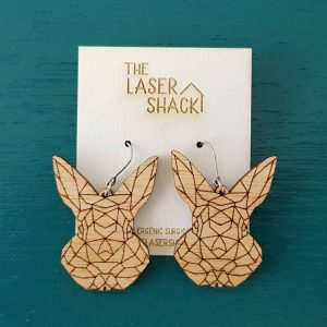 The Laser Shack Earrings GeoZoo Bunny