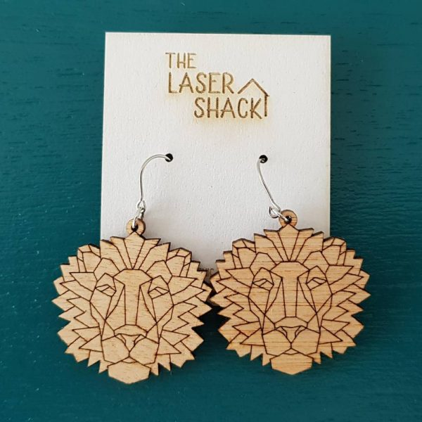 The Laser Shack Earrings GeoZoo Lion