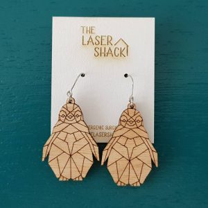 The Laser Shack Earrings GeoZoo Penguin Baby