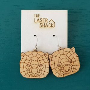 The Laser Shack Earrings GeoZoo Wombat