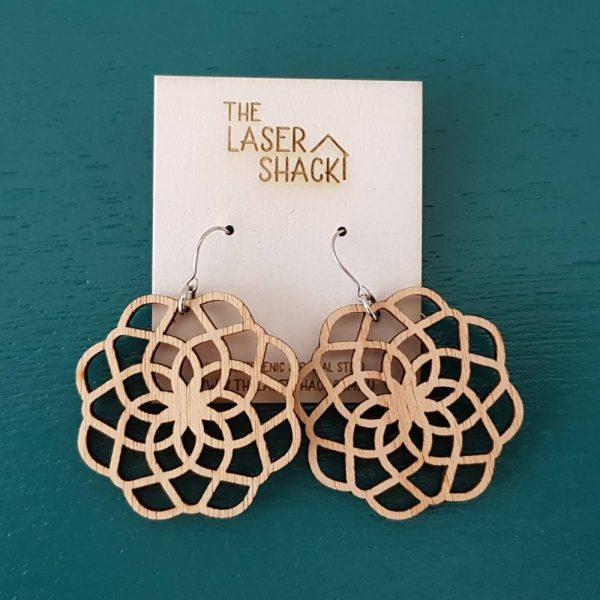 The Laser Shack Earrings Mandala