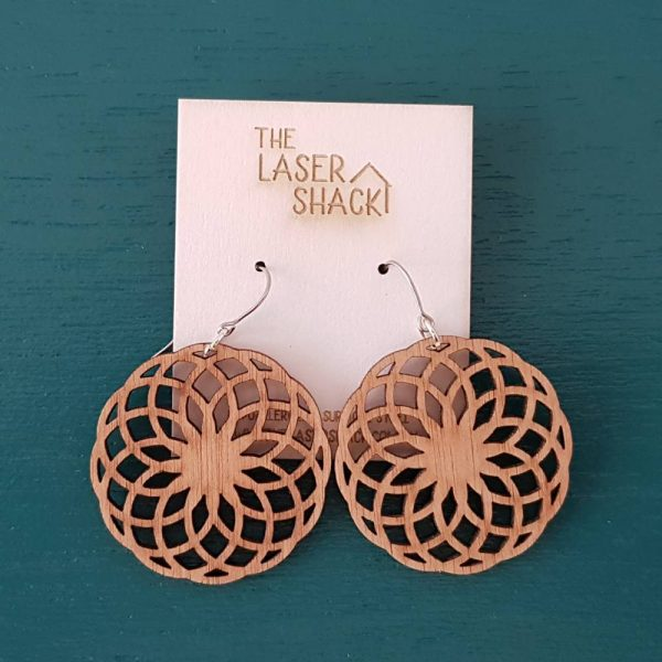 The Laser Shack Earrings Mandala