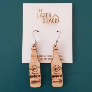 The Laser Shack Earrings Kombucha