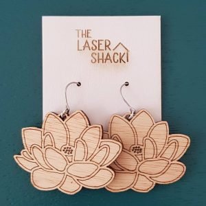 The Laser Shack Earrings Lotus