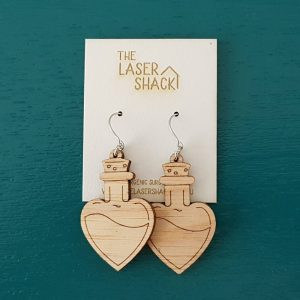 The Laser Shack Earrings Love PotionNr9
