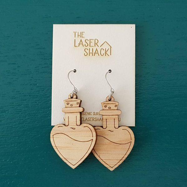 The Laser Shack Earrings Love PotionNr9