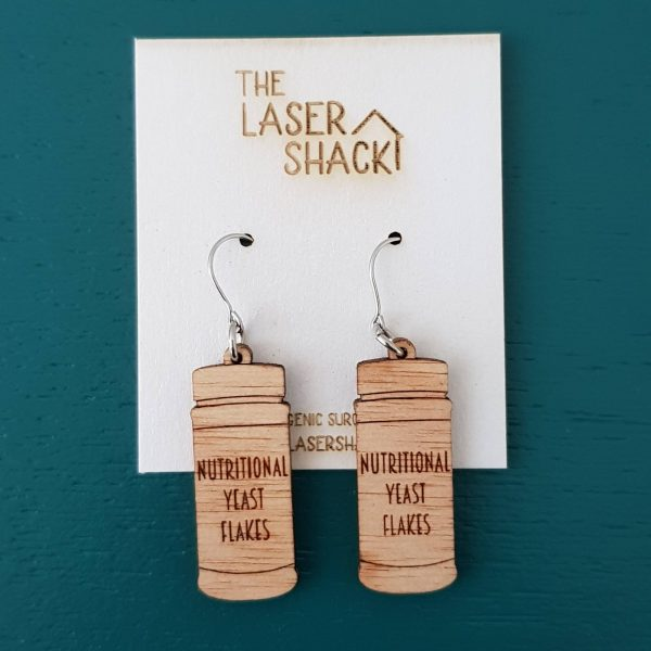 The Laser Shack - Earrings Nutritional Yeast Flakes