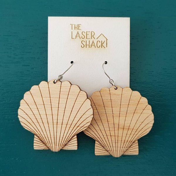 The Laser Shack Earrings Shell - Medium