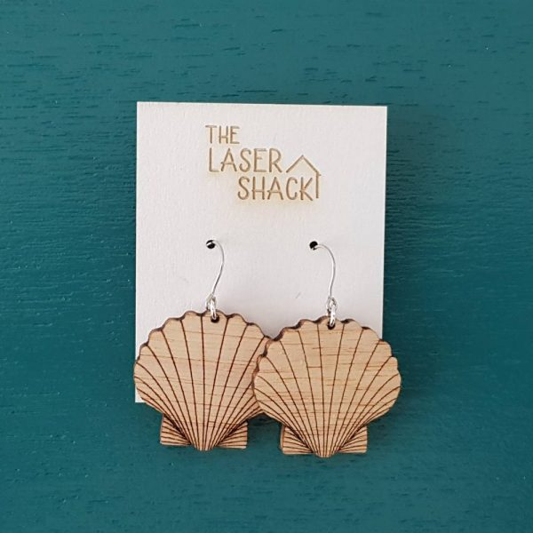The Laser Shack Earrings Shell - Smal