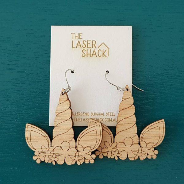 The Laser Shack Earrings Unicorn