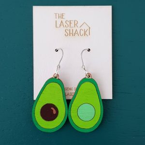 The Laser Shack - Earrings Avocado Coloured