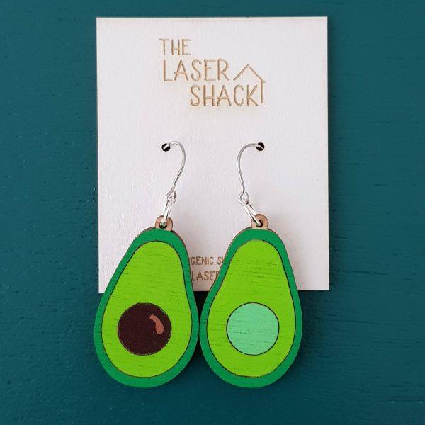 The Laser Shack - Earrings Avocado Coloured