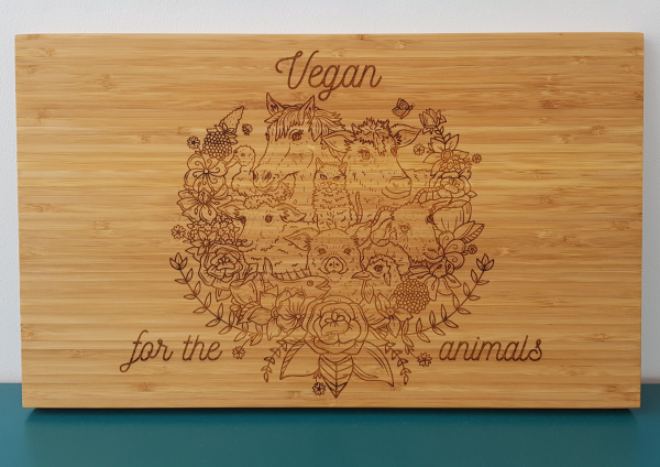 The Laser Shack Chopping Board Vegan For The Animals