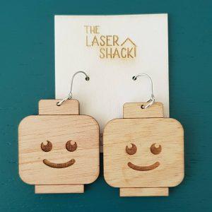 The Laser Shack Earrings Lego