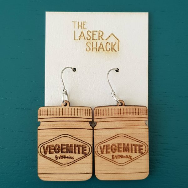 The Laser Shack Earrings Vegemite