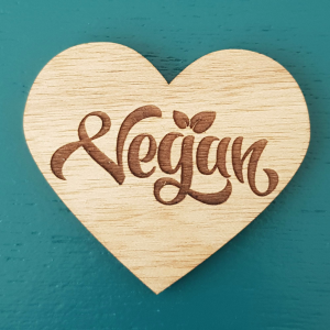 The Laser Shack Magnet Vegan Heart