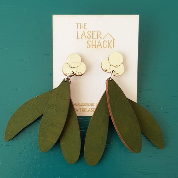 The Laser Shack Earrings Mistletoe