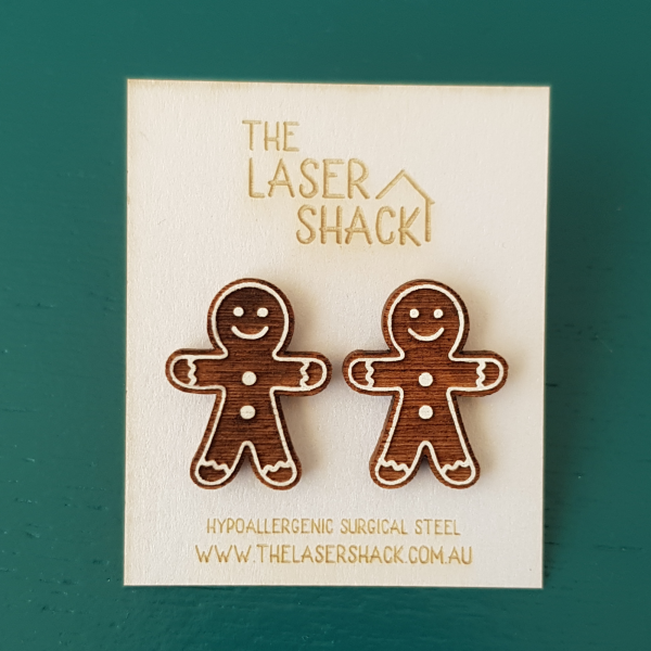 The Laser Shack Studs Gingerbread Person